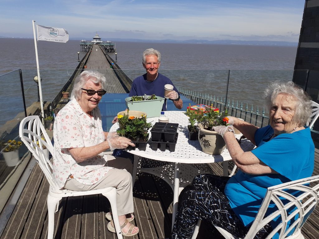 The Hawthorns Residents life enhancing activities on Clevedon Pier